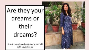 How to avoid overburdening your child with your dreams
